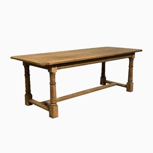 French Oak Farmhouse Dining Table with Extensions