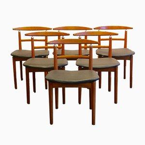 Sedie da pranzo di Helge Sibast & Jörgen Rammeskov per Sibast furniture, 1962, Set di 6