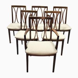 Sedie da pranzo in teak di G-Plan, anni '70, set di 6