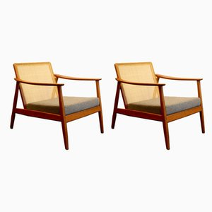 USA 247 Lounge Chairs by Folke Ohlsson for Dux, 1960s, Set of 2