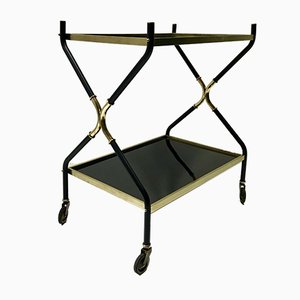Italian Black Serving Trolley, 1950s