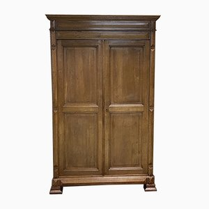 19th Century Louis Philippe Light Oak Wardrobe