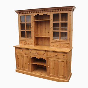 Large Country Pine Dresser with Storage Cupboards, 1980s