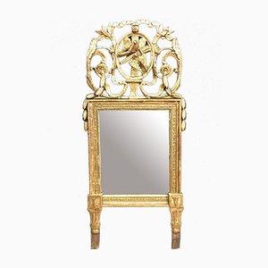 Antique Louis XVI Giltwood Mirror with Doves