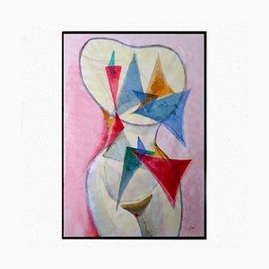 Frauentorso mit 28 Dreiecken von Guido Dragani, 2006