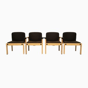 Mid-Century Series 77 Armchairs by Gerd Lange for Schlapp Möbel, 1970s, Set of 4