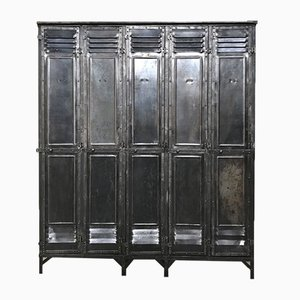 Vintage Industrial 5-Door Locker from Gantois