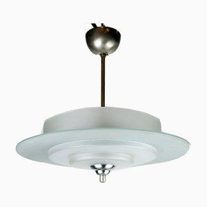 Art Deco Saturn Deckenlampe von Genet & Michon, 1930er