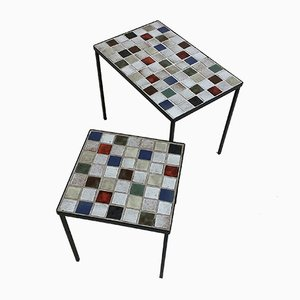 Ceramic Nesting Tables by Mado Jolain, 1950s, Set of 2