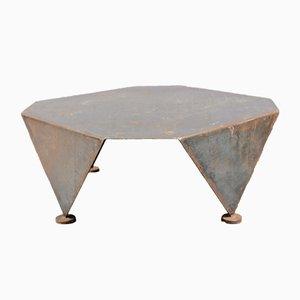 Mid-Century Brutalist Iron Coffee Table