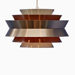 Swedish Brass Trava Ceiling Lamp by Carl Thore / Sigurd Lindkvist for Granhaga Metallindustri, 1960s