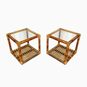 Vintage Bamboo Nesting Tables, 1970s, Set of 2