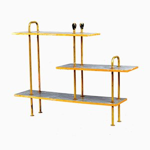 Mid-Century Console Table with Brass Handles, 1950s