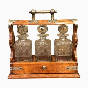 Antique Victorian Oak Tantalus