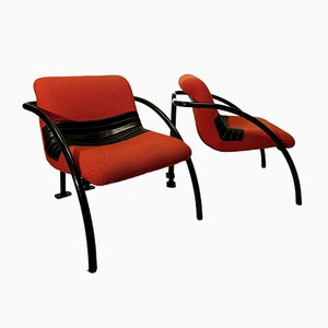 Metal Lounge Chairs from Airborne, 1980s, Set of 2