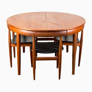 Danish Teak Model 630/31 Dining Table and Chairs Set by Hans Olsen for Transmitting Røjle, 1960s