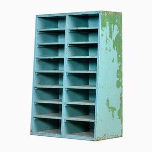 Industrial Wooden Shelf Cabinet, 1950s