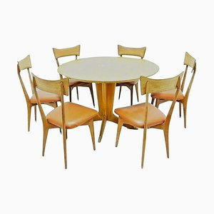 Dining Table & Chairs Set by Ico Luisa Parisi for Colombo, 1950s, Set of 7