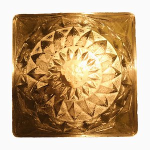 Vintage Italian Glass Sconce, 1970s