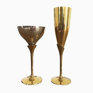 Champagne Glasses, 1970s, Set of 22