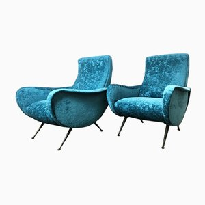 Italian Lounge Chairs in the Style of Marco Zanuso, 1960s, Set of 3