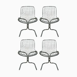Radiofreccia Dining Chairs by Gastone Rinaldi for Rima, 1970s, Set of 4
