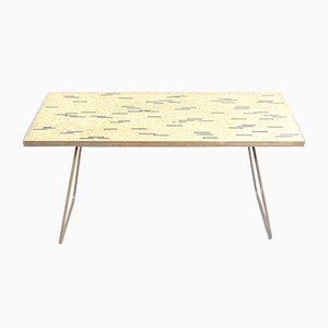Golden Vintage Mosaic Coffee Table by Berthold Müller, 1950s