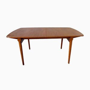 Vintage Scandinavian Teak Extendable Dining Table, 1960s
