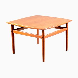 Vintage Danish Square Teak Coffee Table, 1960s