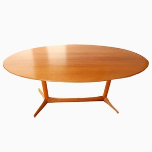 Swedish Plommonet Elliptical Coffee Table by Kerstin Hörlin-Holmquist for NK:s Verkstater, 1959