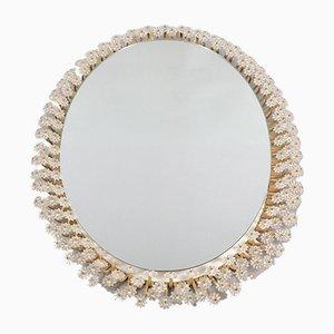 Specchio Mid-Century retroilluminato a fiore di Rupert Nikoll
