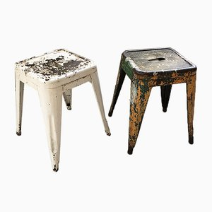H45 Stools by Tolix, 1950s, Set of 2