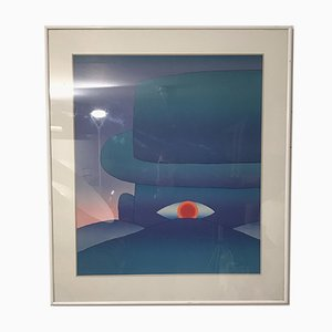 The Dawn Silkscreen Print by Jean Michel Folon, 1970s