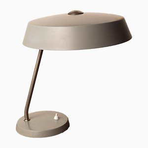 Mid-Century Bauhaus Grey Desk Lamp by H. Th. J. A. Busquet for Hala, 1950s