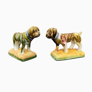 Ceramic Glazed Dogs from Sargadelos, Set of 2