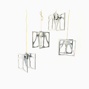 Modernist Organic Ceiling Lamps, 1990s, Set of 4