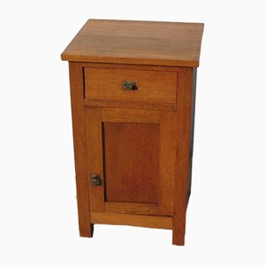 Oak Veneer Nightstand, 1950s