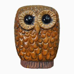 Mid-Century Swedish Ceramic Owl by Lars Bergsten, 1960s