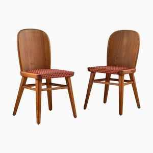 Skandinavische Kiefer Stühle, 1930er, 2er Set