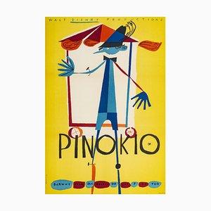 Pinocchio Poster by Kazimierz Mann, 1962