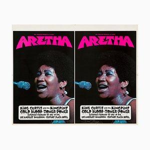Póster Aretha Franklin de David Singer, 1971