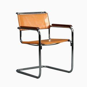 Cognacfarbener S34 Chair von Mart Stam für Thonet, 1980er