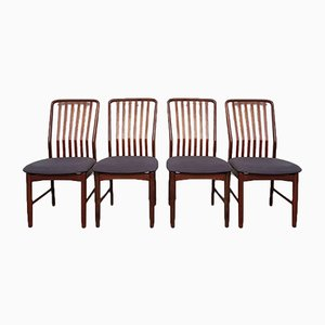 Mid-Century Danish Walnut & Teak Dining Chairs by Svend Aage Madsen, Set of 4
