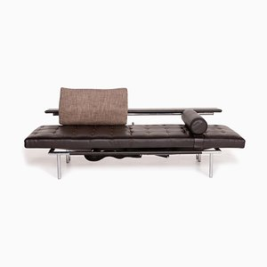 Dark Brown Leather Campus de Luxe 2-Seat Sofa from IP Design