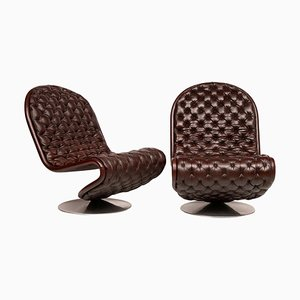 Model E Lounge Chairs by Verner Panton for Fritz Hansen, 1973, Set of 2