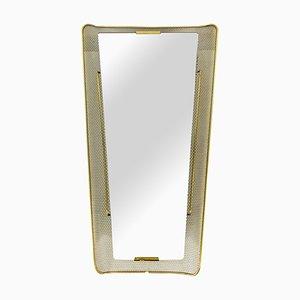 Specchio Mid-Century in metallo con luce di Stilnovo, Italia, anni '60