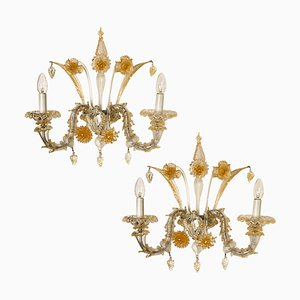 Venetian Sconces by Vintage Murano Gallery, 1960s, Set of 2