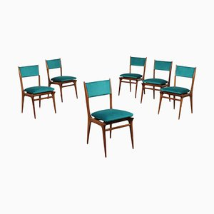 Beech Wood Chairs, 1960s, Set of 6