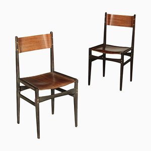 Beech Wood Chairs, 1960s, Set of 2