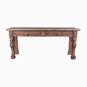 Scottish Oak Console Table, 1860s